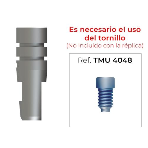 Réplica de implante CI hexagonal (diámetro 4mm)