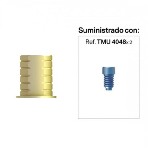 Base para prótesis Cemento-Atornillada a Recto Estético Anti-Rotacional Alt. Hombro 0 mm
