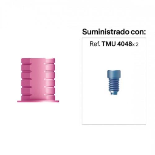 Base para prótesis Cemento-Atornillada a Recto Estético Rotacional Alt. Hombro 0 mm