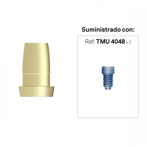 Interfase compatible con el Sistema Cerec® a Recto Estético Anti-Rotacional Alt. Hombro 0 mm