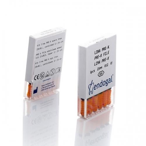 Kit lima PRE K acero inox. 25x012, conicidad 1% (6Uds.)