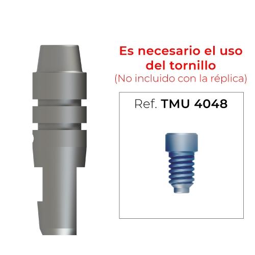 Réplica para pilar multi-posición recto estético rotacional (diámetro 4mm)