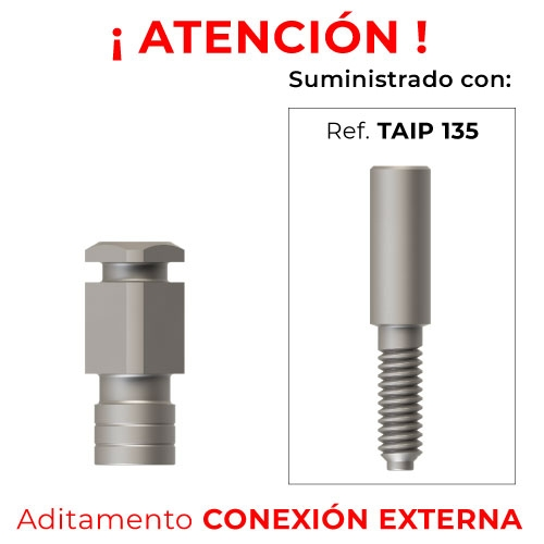 Aditamento impresión CE Hexagonal+ Tornillo Corto